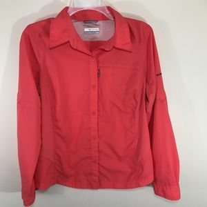 Coral Orange Long Sleeve Omni Shade Outdoor shirt